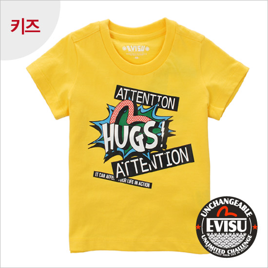 Children_ Hugs Print Round Tee